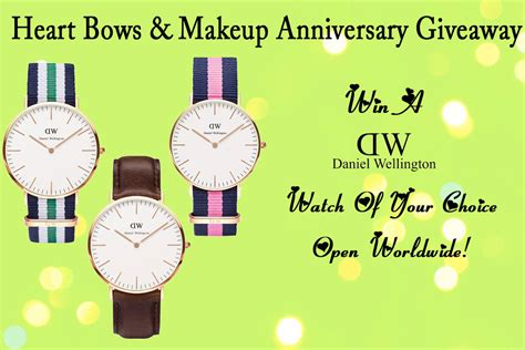 International Giveaway - hbm first anniversary giveaway win a daniel wellington watch open internationally