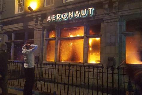 acton fire revellers   miracle escape   year aeronaut pub blaze london evening