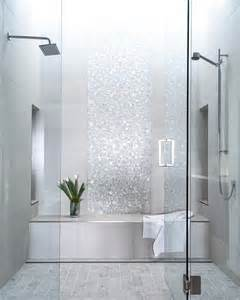 picture of sparkling silver shower tiles