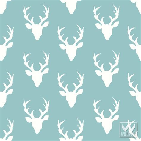 deer pattern iphone wallpaper deer antlers pattern on removable wallpaper from bonnie