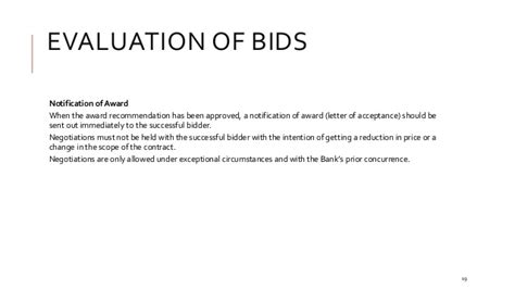 Award Letter To Successful Bidder The Basics Of Tendering Bidding