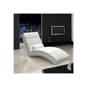 contemporary chaise longue real leather noname