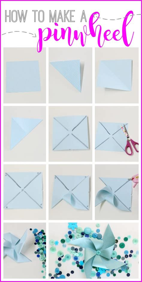 How To Craft A Paper - pinwheel summer brunch sugar bee crafts