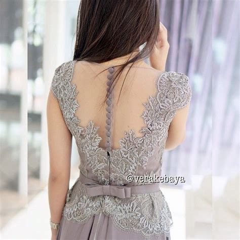 Kebaya Panjang Pl 01 vera anggraini vera kebaya indonesia beautiful grey and skirts