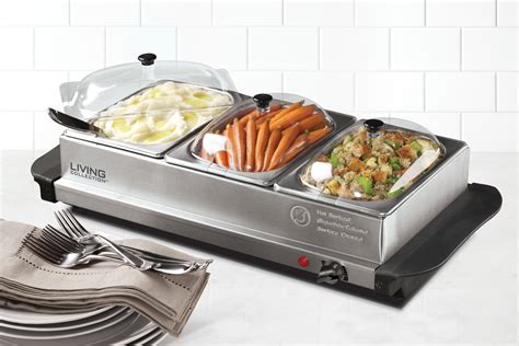 buffet server warmer bcd332 living collection 3 station stainless steel