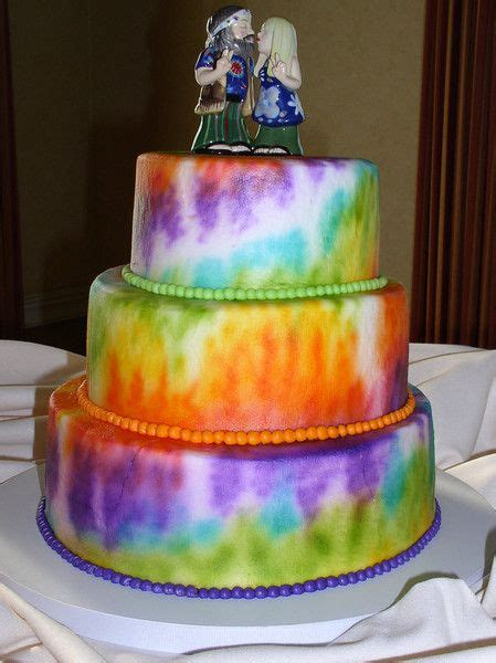 More Whimsical Cakes To Impress by 15 Must See Hippie Cake Pins Tye Dye Cake Tie Dye Cakes