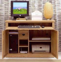 Small Hideaway Desk Nara Computer Desk Hideaway Home Office Solid Oak Furniture Ebay