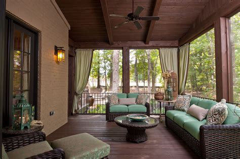 Screened In Back Patio by Back Porches On Back Porch Designs Covered
