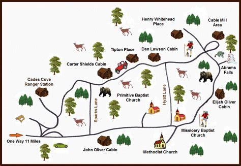 cades cove map cades cove map map3