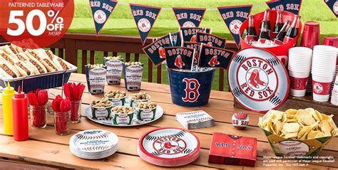 boston themed events mlb boston red sox party supplies party city canada