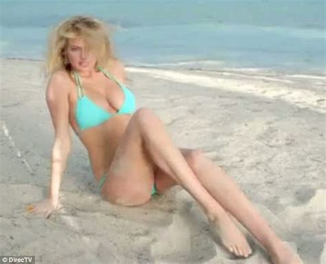 direct tv commercial actress on horse kate upton directv ad bikini clad model speaks just 7
