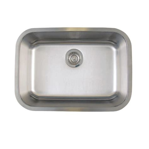 Blanco Stainless Steel Kitchen Sinks Blanco Stellar Undermount Stainless Steel 25 In Medium Single Bowl Kitchen Sink 441025 The