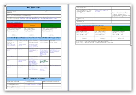 electrical risk assessment template electrical risk assessment template pictures