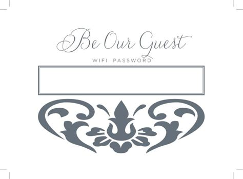 Printable Wifi Password Sign How To Decorate Wifi Sign Template