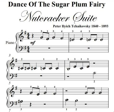 Keyboard Beginner Tutorial Pdf | dance of the sugar plum fairy nutcracker beginner piano