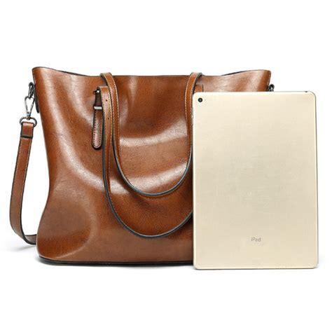 Tas Wanita Leather Shoulder Bag Handbag Crossbody Tote Purse s vintage leather tote handbag shoulder crossbody bag with big large capacity for