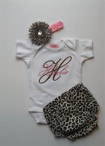 Baby girl clothes newborn girl take home outfit cheetah baby