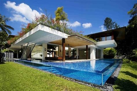 incredible house incredible tangga house has borderless pool water walls