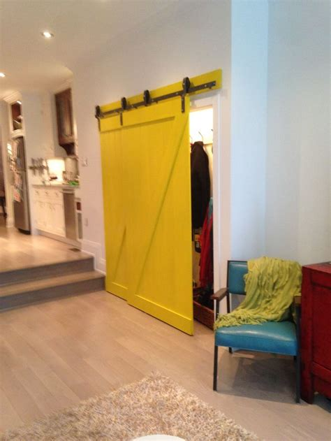 Yellow Barn Door 17 Best Images About Bypass Barn Door Inspirations On Bypass Barn Door Hardware