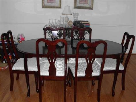 Cherry Dining Room Chairs Sale by Cherry Dining Table With Six Chairs For Sale From Newark