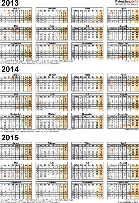 Word Vorlage Jahreskalender 2015 Dreijahreskalender 2013 2014 2015 Als Word Vorlagen Zum Ausdrucken