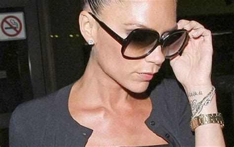 tattoo victoria beckham wrist victoria beckham tattoos and meanings