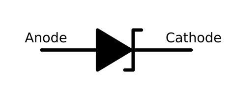 schottky diode anode cathode simbol dioda zener clipart best