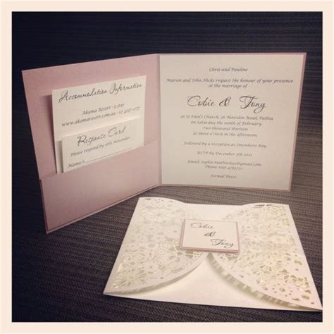 Paper Lace Wedding Invitations by Floral Paper Lace Wedding Invitation Laser By