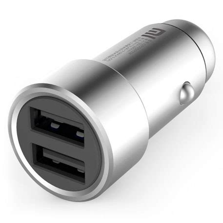Xiaomi Car Charger Dual Carjer Mobil Dual Port Metallic Original 100 xiaomi mi car charger dual usb silver specifications