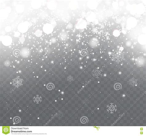 christmas lights snowflakes falling falling snow with snowflakes on transparent background stock vector illustration of