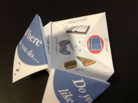 A Paper Fortune Teller - paper fortune tellers social skills for children