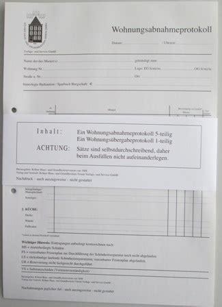 wohnungsabnahmeprotokoll haus und grund formulare wohnungsabnahme und 252 bergabeprotokoll