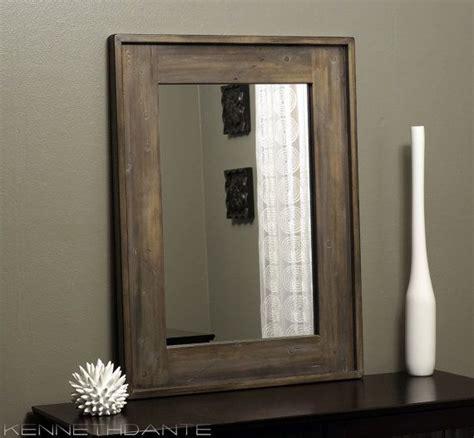 rustic wood framed mirror distressed farmhouse barn