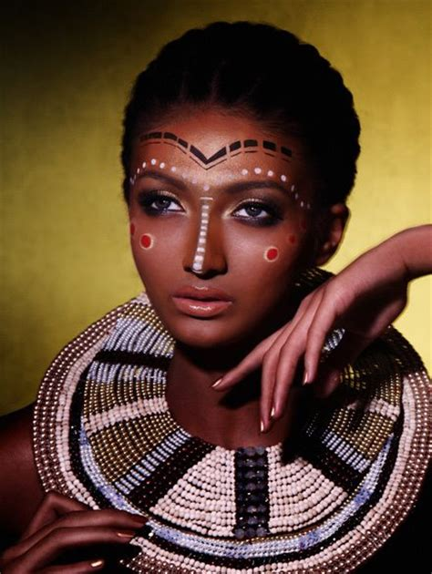 african tribal women face paint lerato africa