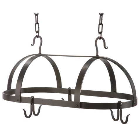 Wrought Iron Pot Racks wrought iron oval pot rack by county ironworks
