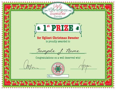 xmas award certificate ideas free sweater certificate bit of for free printables for