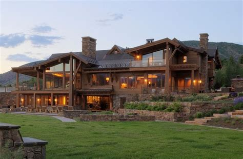 expansive quebec residence charms with inviting warmth of wood expansive family retreat on a 860 acre ranch designed by
