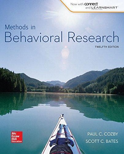 Methods In Behavioral Research 12e 2015 Paul Cozby Bates isbn 9780077861896 methods in behavioral research 12th