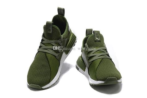 olive green mens nmd running shoe high quality ultra
