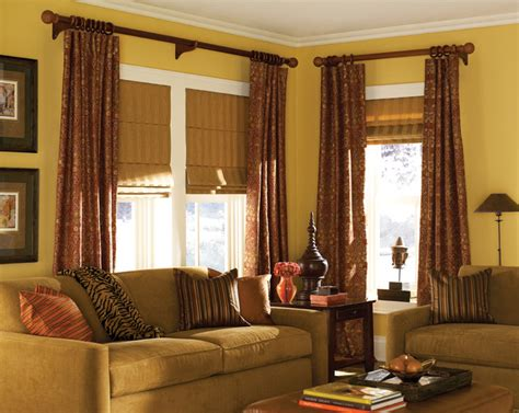 Shade Curtains For Living Room Blinds Classic Shades Traditional Living