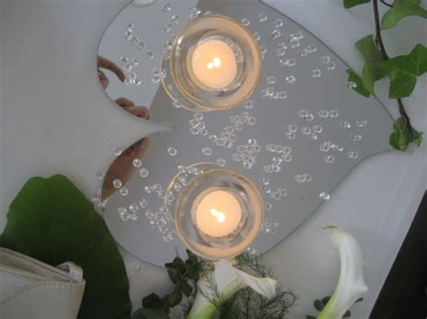 10 circular mirrors ideal for centerpieces at christmas or