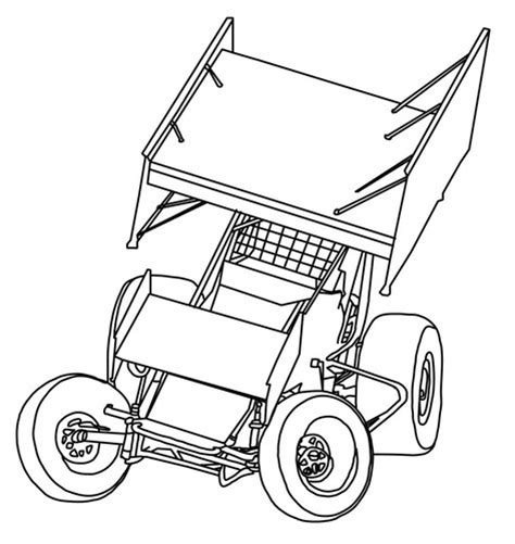 sprint car coloring page free coloring pages of dirt modified race car