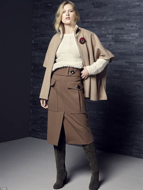 The Daily Mail Uk Fashion by M S Launches Autumn Collection In And Allows