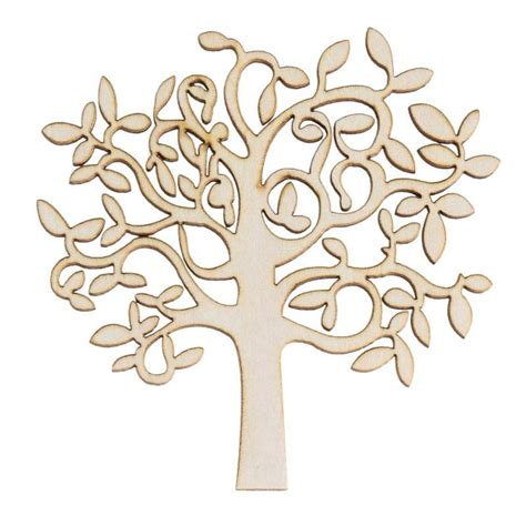 wooden decorations new wooden mdf tree shape decor for family tree