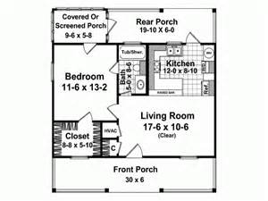 Cottage house plan with 600 square feet and 1 bedroom from dream home