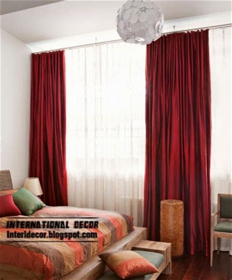 red bedroom curtains red curtains and window treatments in the interiors