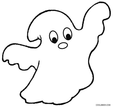 Blank Ghost Coloring Pages | ghost coloring pages