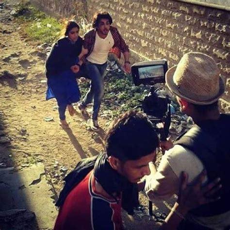 maya ali and imran abbas behind the scene of zulekha bin