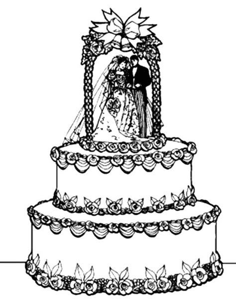 coloring page wedding cake awesome wedding cake coloring pages best place to color