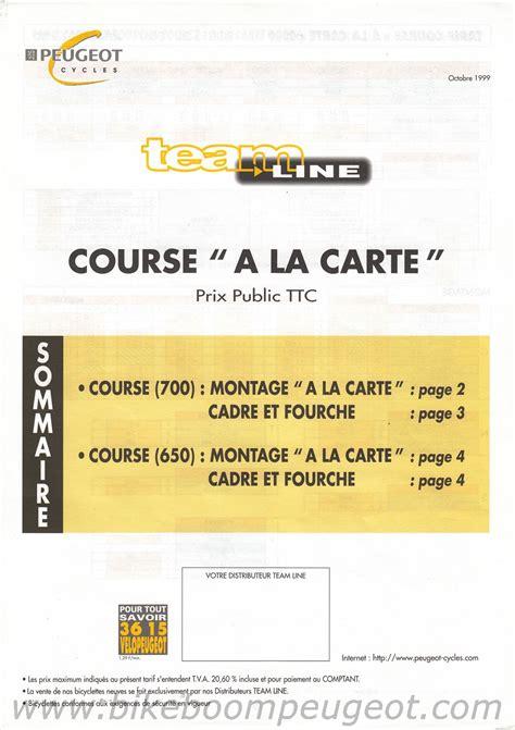 peugeot france price list peugeot 2000 team line brochure